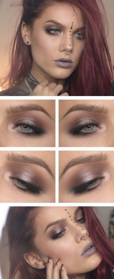 Piękny elegancki makijaż