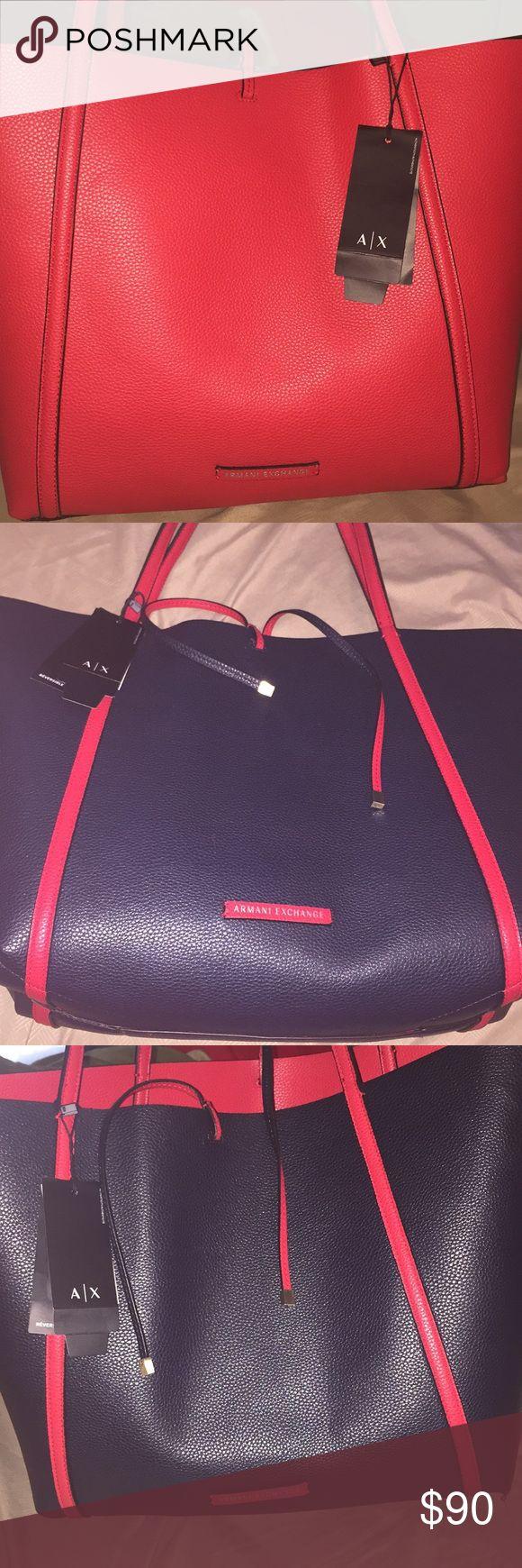 Armani Exchange Purse (Reversible) Reversible Armani Exchange Purse! New, but never used! Great, stylish Purse. Price negotiable Armani Exchange Bags Shoulder Bags