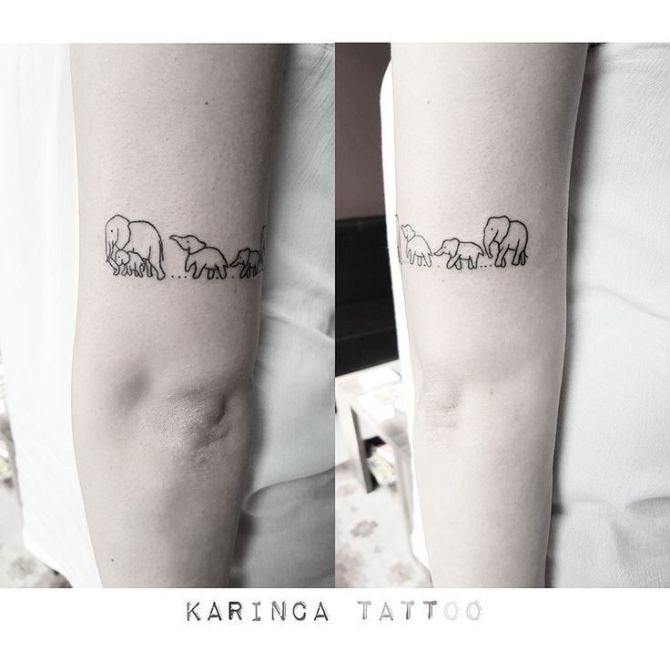 Minimal elephant family for Elephant tattoo meaning family