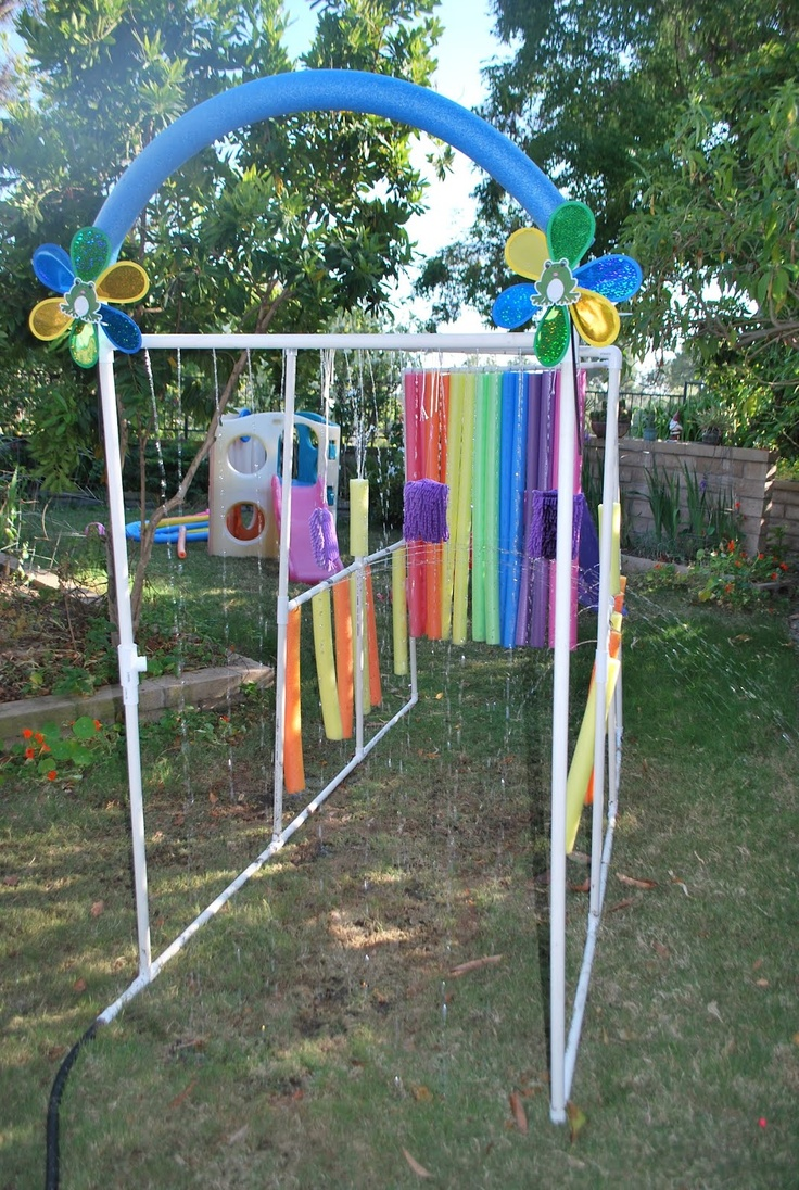 And we just used to run through the sprinkler! ... LOVE THIS!  think I might have to share this with hubby!  would make for some serious backyard summer FUN!!!  ;-)
