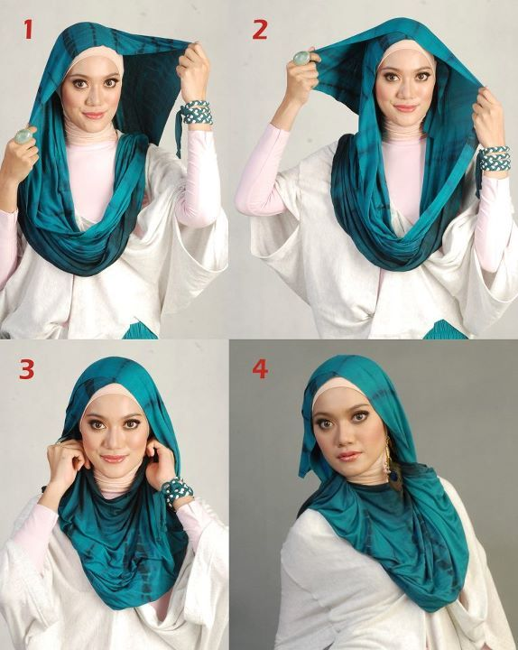 hijab tutorial for oval face