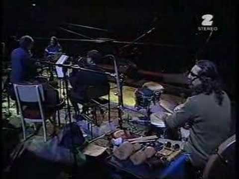 absolutely love this: John Zorn's Bar Kokhba -- Gevurah (live). Marc Ribot (guitar), Cyro Baptista (percus), Mark Feldman (violin), Erik Friedlander (cello), Greg Cohen (bass), Joey Baron (drums). http://www.tzadik.com/
