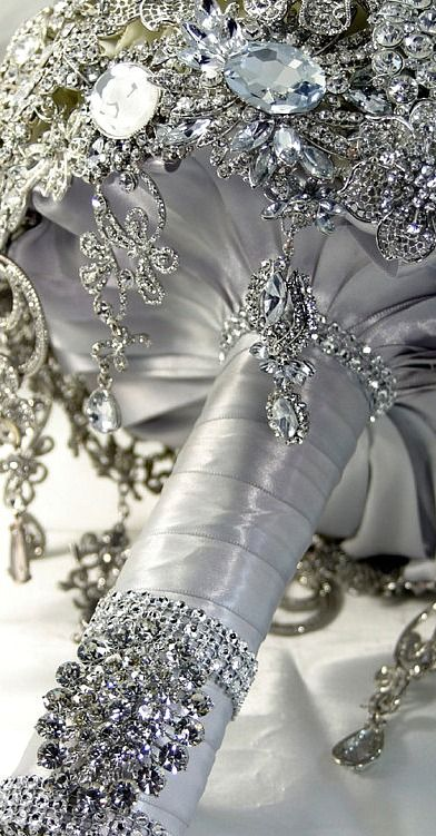 diamond bridal bouquet.... #weddings #wedding ideas #bridal bouquets