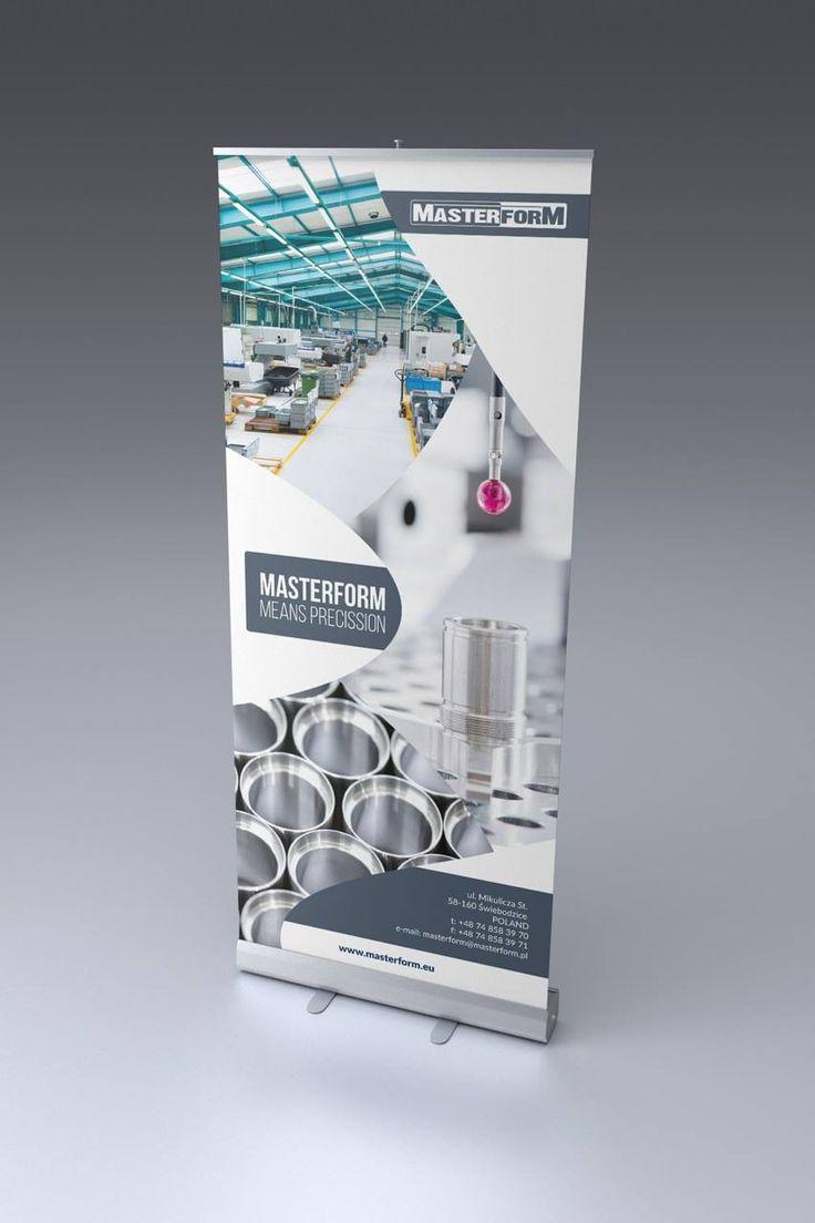 Roll up'y firmy Masterform powstały na potrzebę targów. Spójne z grafiką katalogu firmowego. #design #grafika #projektowanie #graficzne #baner #banery #rollup