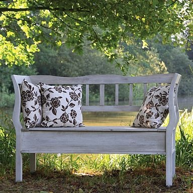 Off White Lyon Timber Outdoor Bench Benches Garden Home Furniture Porch Swings Pinterest Storage And