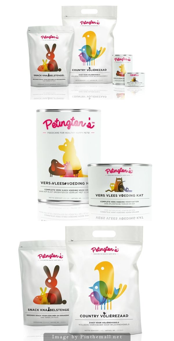Just the cutest critters on this Petington's pet food packaging curated by Packaging Diva PD