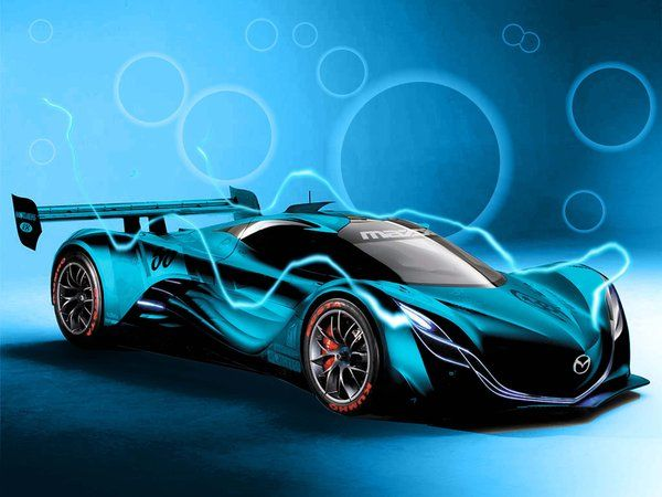 Beautiful Blue Mazda Furai Wallpaper