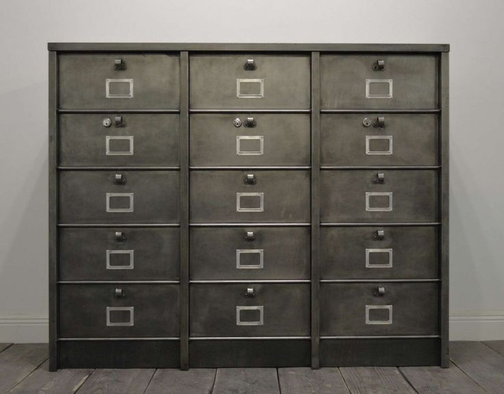 This Large Filing Cabinet Was Produced In France And Consists Of 15  Compartments. It Is