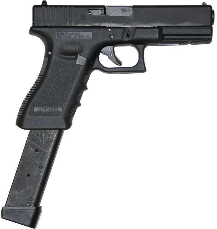 Glock 17 w/extended mag, 9mm | Weapons | Pinterest | Glock  Glock 17 w/exte...