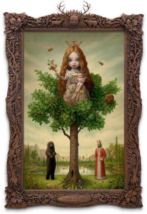 .Ryden Trees, Life Surrealism, Artists Express, Ryden Painting, Ryden Art, Artists Behaviour, Markryden, Mark Ryden, Fave Artworks