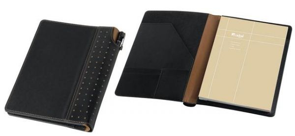 A5 Leather Notebook A5 Leather Notebook Cream Lined Paper Pen Pocket in Spine Document Pocket Notebook Included Number of Pages : 192 Credit Card Pocket Gift Boxed Brand by Embossing Dimensions : 210 × 130mm (L x W)