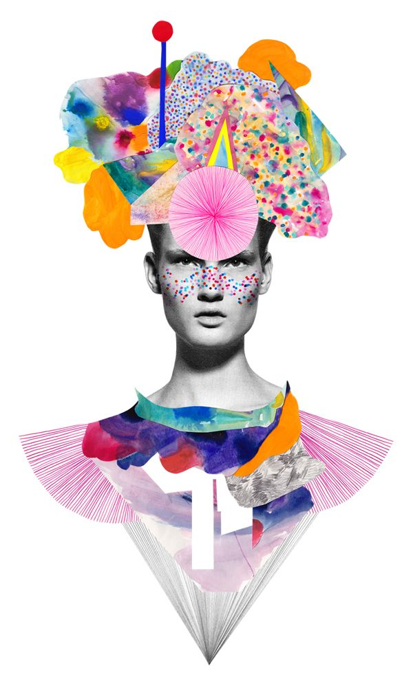 fashion illustration collage - Google 検索