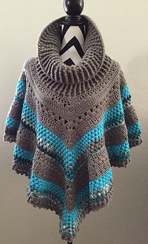 Ravelry: Vintage Poncho Crochet Pattern pattern by Andrea Brewer