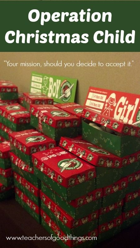 Operation Christmas Child www.teachersofgoodthings.com