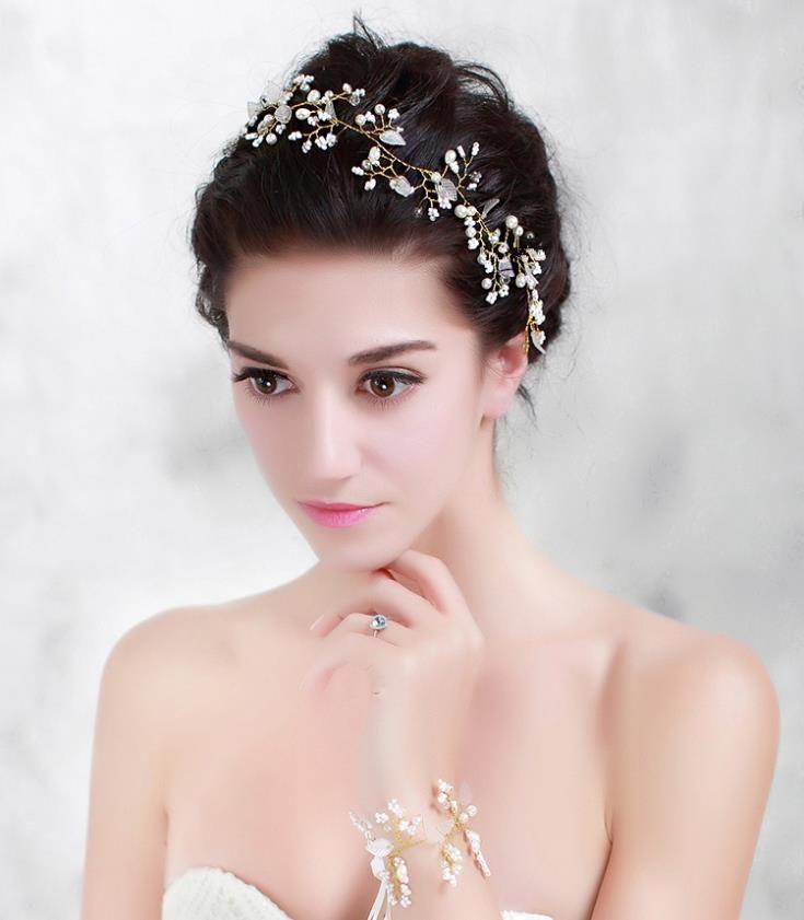 Перл кристалл свадебный повязка на голову аксессуары для волос свадебный головной убор волосы ювелирные изделия горный хрусталь глава сеть головной убор WIGO0410 купить на AliExpress