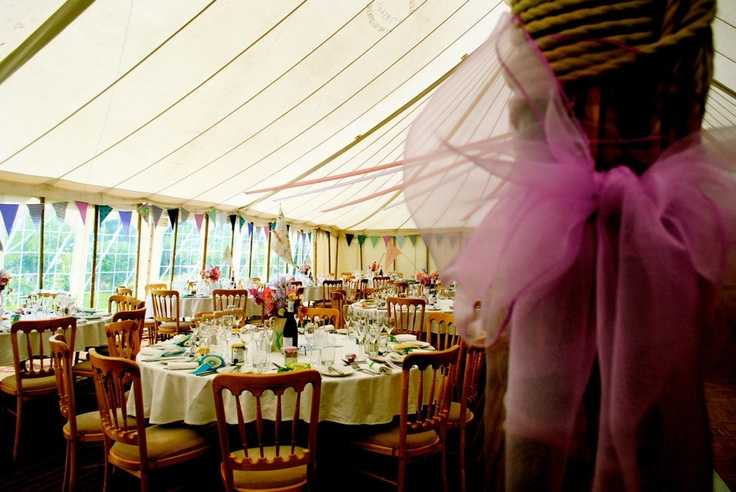 Inside our marquee