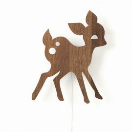 My deer lamp wood
