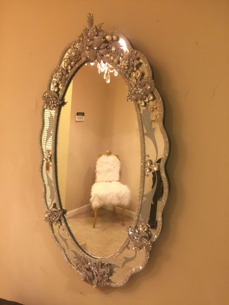 Rhinestone Wall Mirror 122 best bling for your home.made to order on etsy