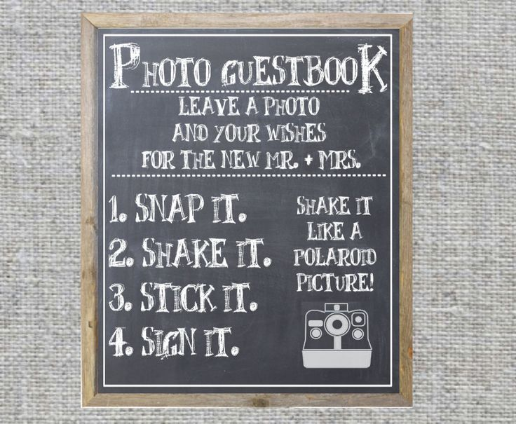 Simple instructions for your Photo Guest Book.