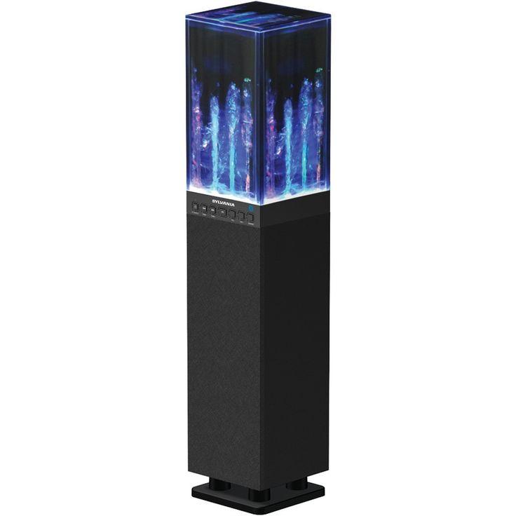 SYLVANIA SP118-BLACK Water Dancing Bluetooth(R) Mini Tower Speaker