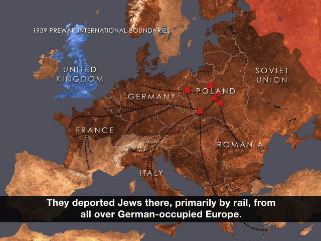 Animated Map WWII and Holocaust- for the Novel Number the Stars