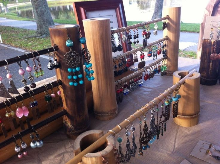 Jewelry Booth Displays   bamboo   Craft show display's, Jewelry display's and booth displays