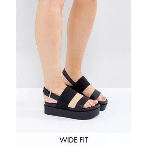 New Look Wide Fit 90's Flatform Sandals
