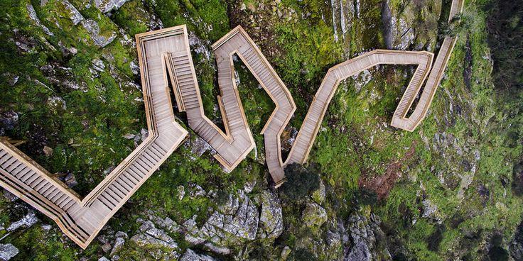 nelson garrido documentes the dizzying paiva walkways in portugal