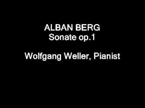 """Berg, Sonate op.1, Wolfgang Weller.  Piano-Recital 15.06.1996 """"Klaviermusik aus Wien"""", Ehingen/Donau, Museum, historischer KAPS-Flügel."""