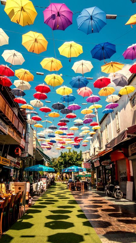 Walk Under The Umbrellas! Photo by Olgica Ilievska -- National Geographic Your Shot