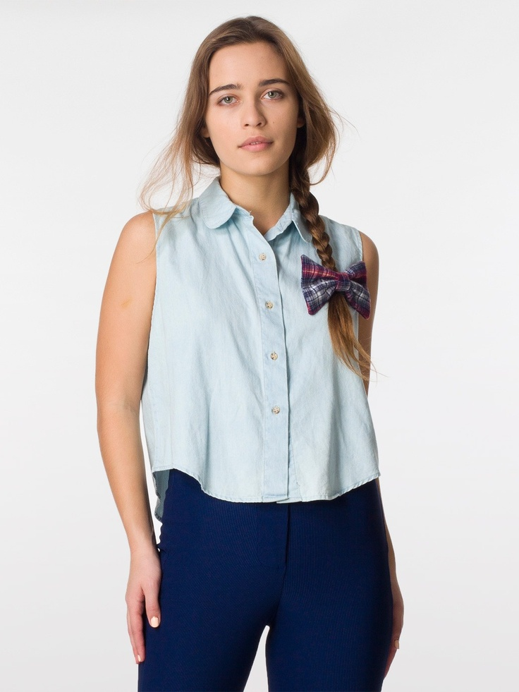 Denim Sleeveless Crop Button Up Sleeveless Women 39 S