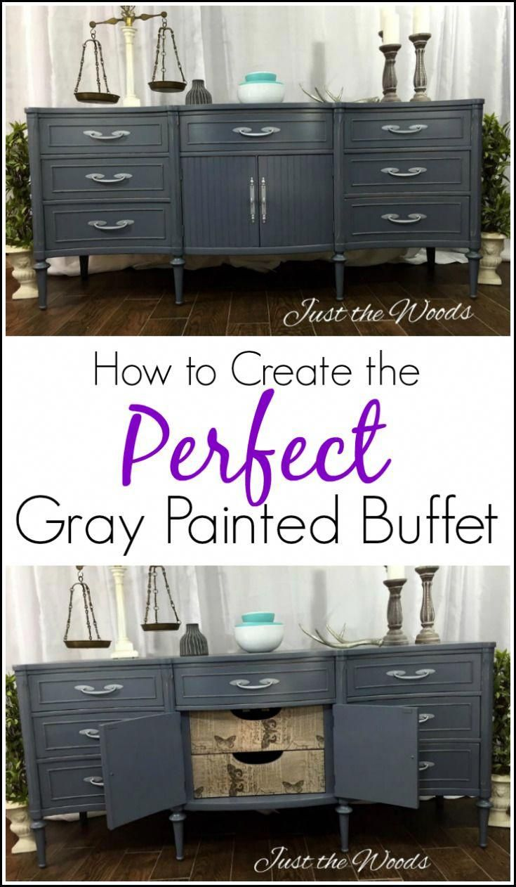 How to create the perfect gray painted buffet with tissue best