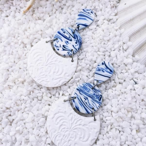 Handmade Polymer Clay Earrings – Nautical collection