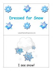 Dressed for Snow Emergent Reader (free printable)