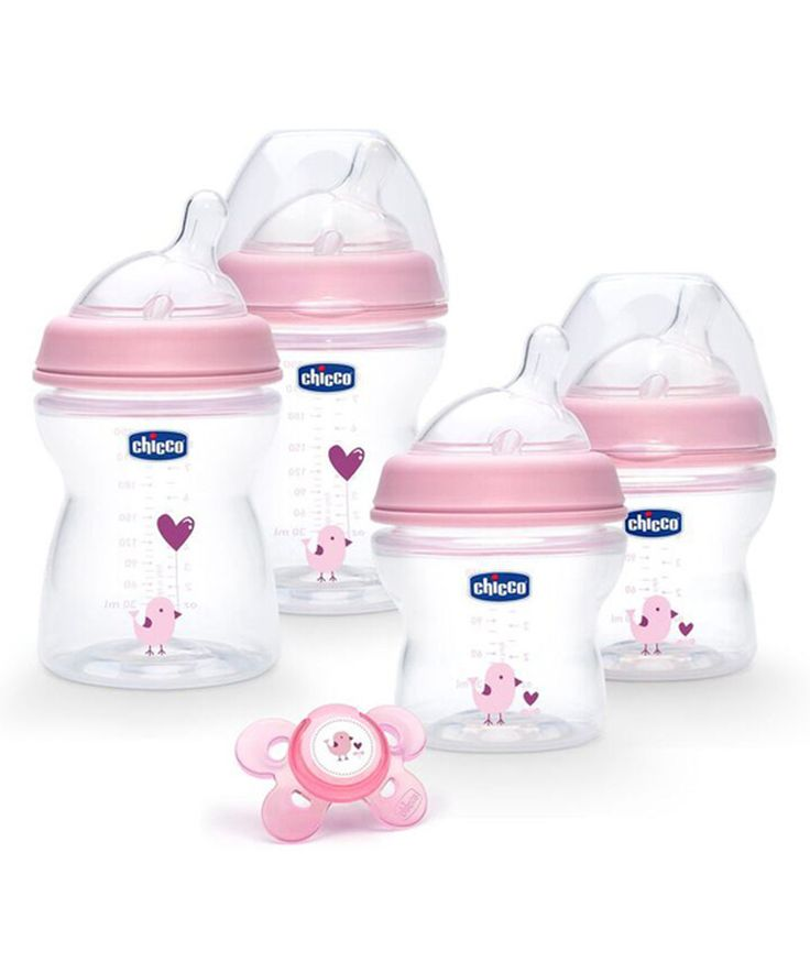 Loving this Chicco Pink NaturalFit® Stage 1 Deco Bottle & Pacifier Set on #zulily! #zulilyfinds