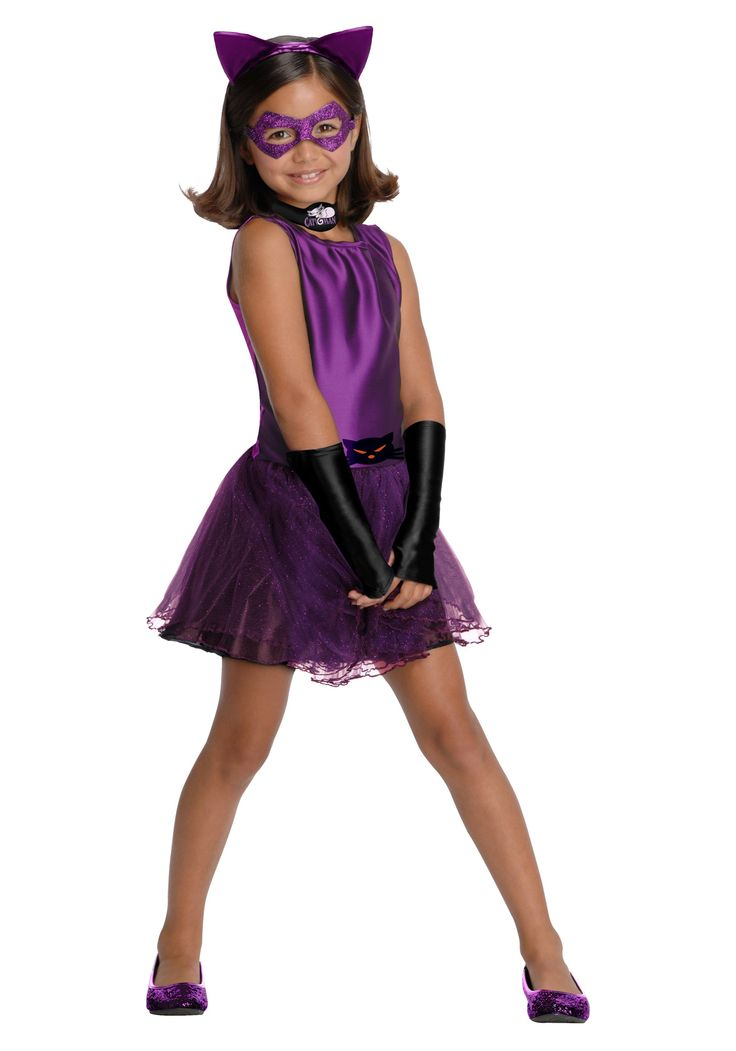 girl cat halloween costumes | Girls Catwoman Tutu Costume