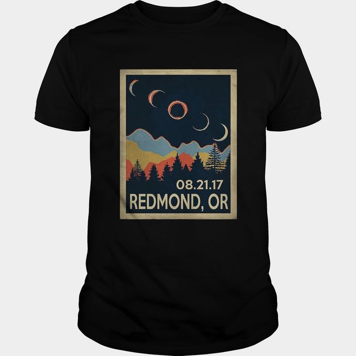 Vintage Redmond Oregon #Solar #Eclipse 2017 Tshirt, Order HERE ==> https://www.sunfrog.com//135979291-979818252.html?54007, Please tag & share with your friends who would love it, #jeepsafari #birthdaygifts #superbowl