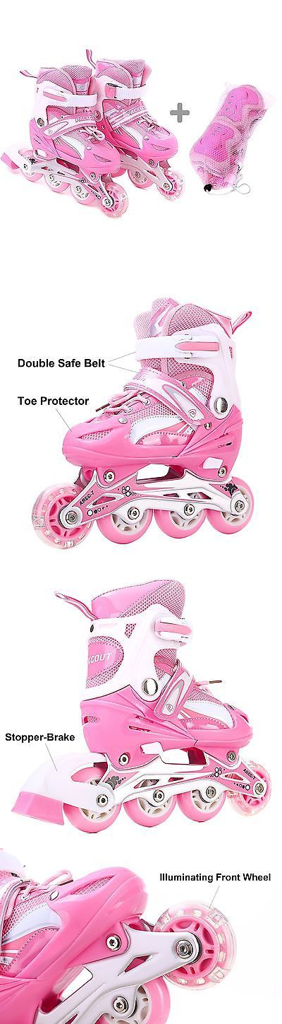 Youth 47345: Girls Inline Skates Adjustable Rollerblades For Kids Girls Illuminating Wheel... -> BUY IT NOW ONLY: $60.46 on eBay!