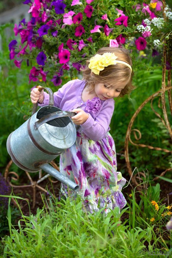 Springtime little gardener