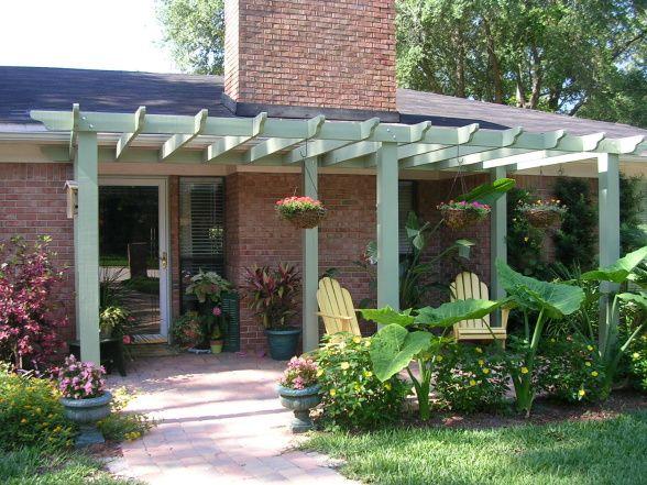 Front porch pergola exterior pinterest for Front porch patio designs