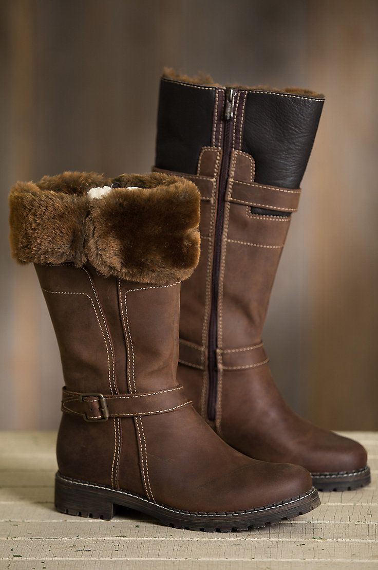 New Ladies Fur Trime Winter Warm Round Toe Low Heels Mid Calf Boots Comfy Shoes