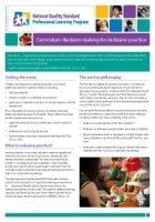 Newsletter 38: Curriculum decision making for inclusive practice - NQS PLP