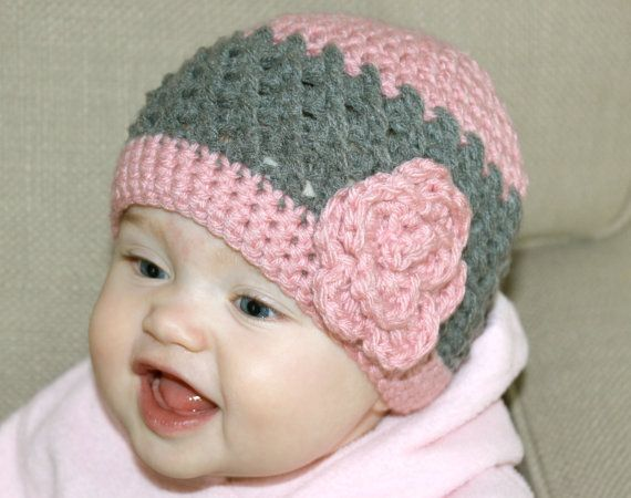 Baby Girl Crochet Hat Toddler Girl Crochet Hat by StellaJuneHats, $14.50