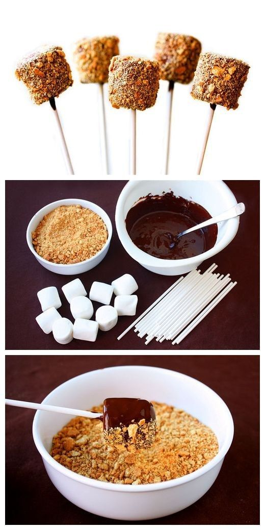 DIY S'mores Pops   23 Adorable Thanksgiving Desserts That Kids Will Love