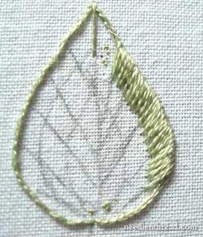 Long & Short sombreamento Stitch em bordados à mão em needlenthread.com