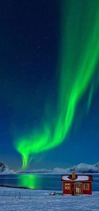 The Northern Lights in Lofoten, Norway