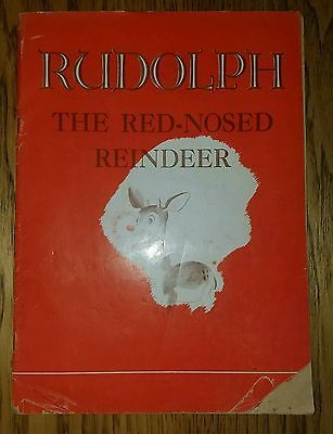 Rudolph The Red Nosed Reindeer 1939 First Edition 2nd Print Price Reduced KIDS