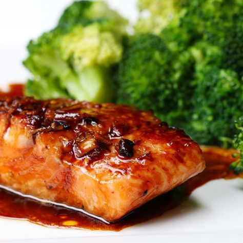 Here is a tasty Honey Soy Sauce on your very healthy wild salmon.