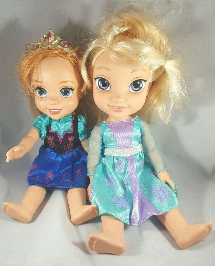 disney princesses frozen deluxe toddler elsa and anna doll set disney