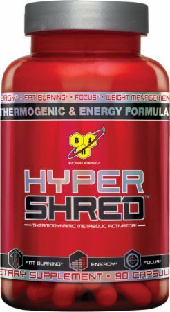 BSN Hyper Shred is a fat burning supplement that provides energy during a workout.